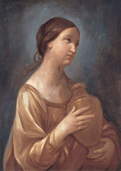 Reni, Guido: Magdalene with the Jar of Ointment. Fine Art Print/Poster. Sizes: A4/A3/A2/A1 (002108)